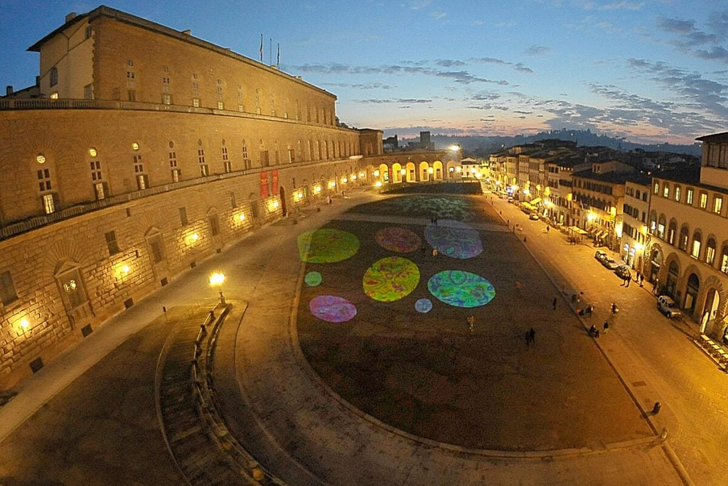 light festival Florence piazza PITTI my travel in tuscany