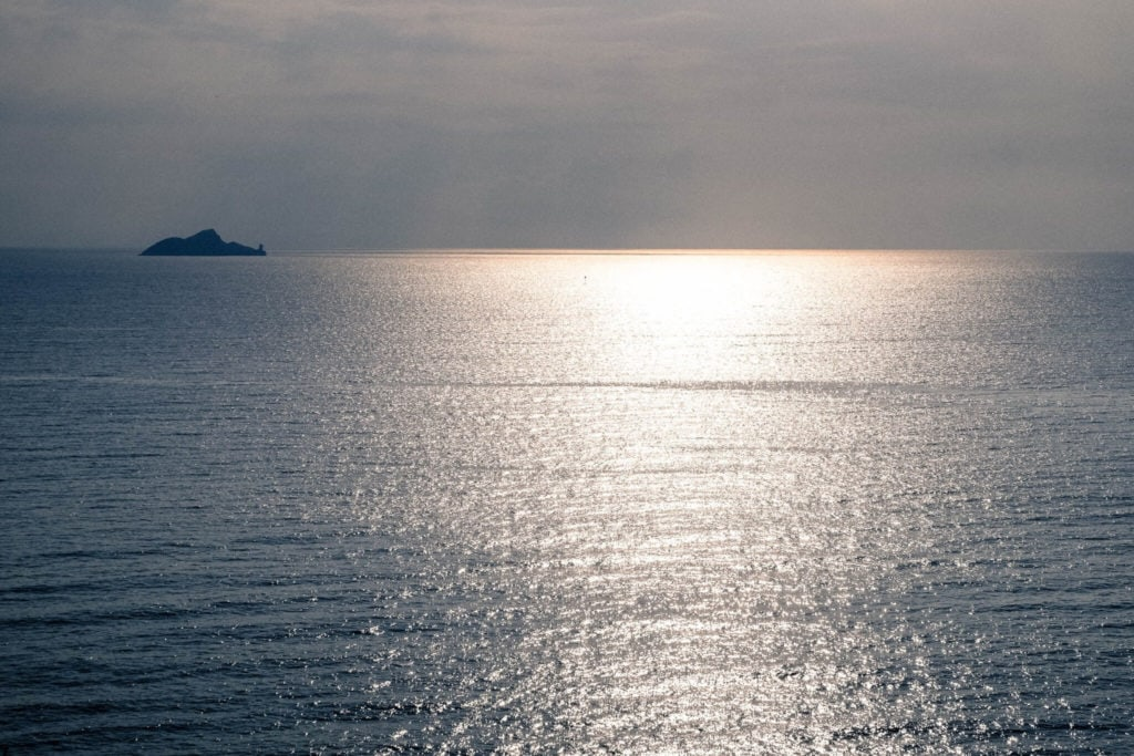 Sea view from Piombino Promontory in Tuscany