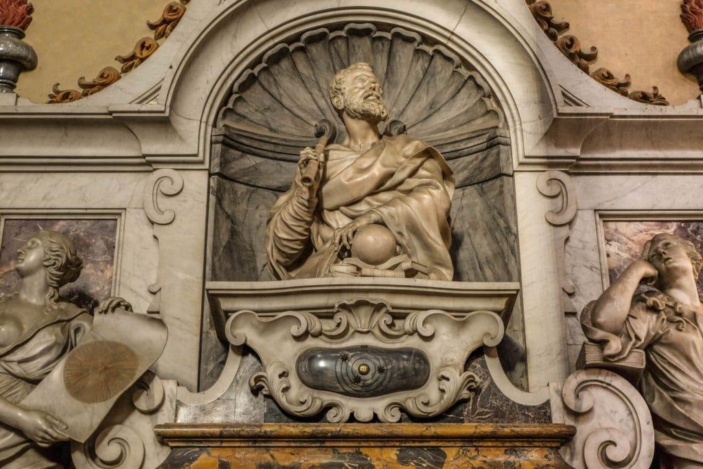 Galileo Galilei tomb Santa Croce Florence