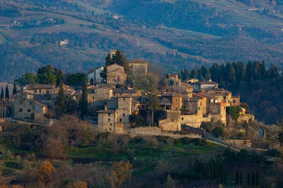 Montefioralle Tuscany villages