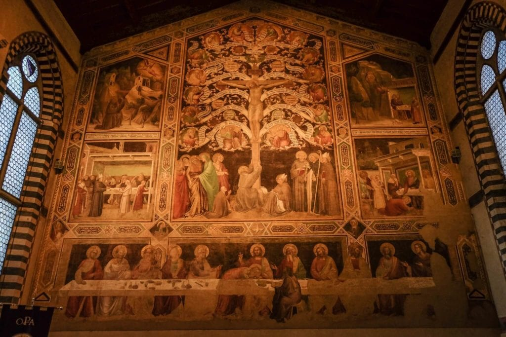 life tree and last supper Santa Croce Florence