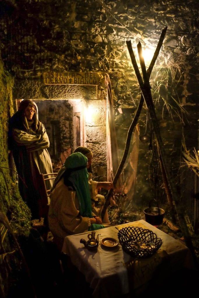 nativity scene of Equi Terme tavern