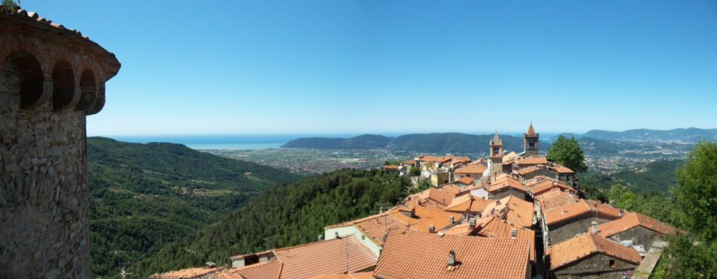 Fosdinovo castle view from the top