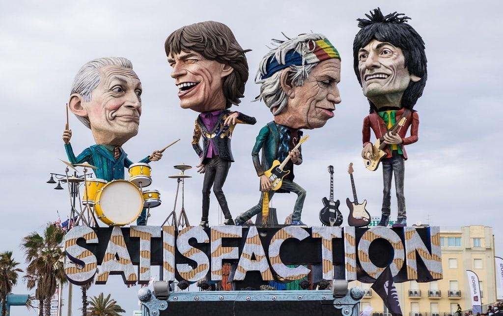 Rolling Stones fload at Carnival in Viareggio