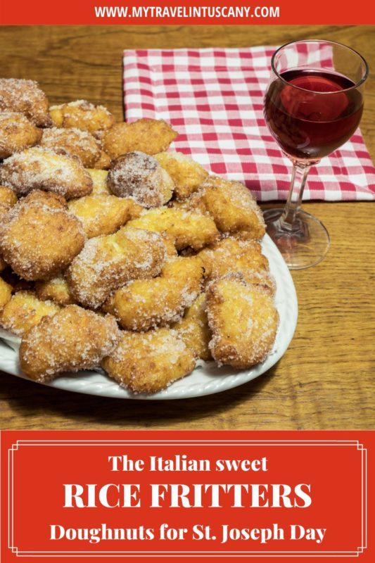 St. Joseph rice fritters recipe Pinterest