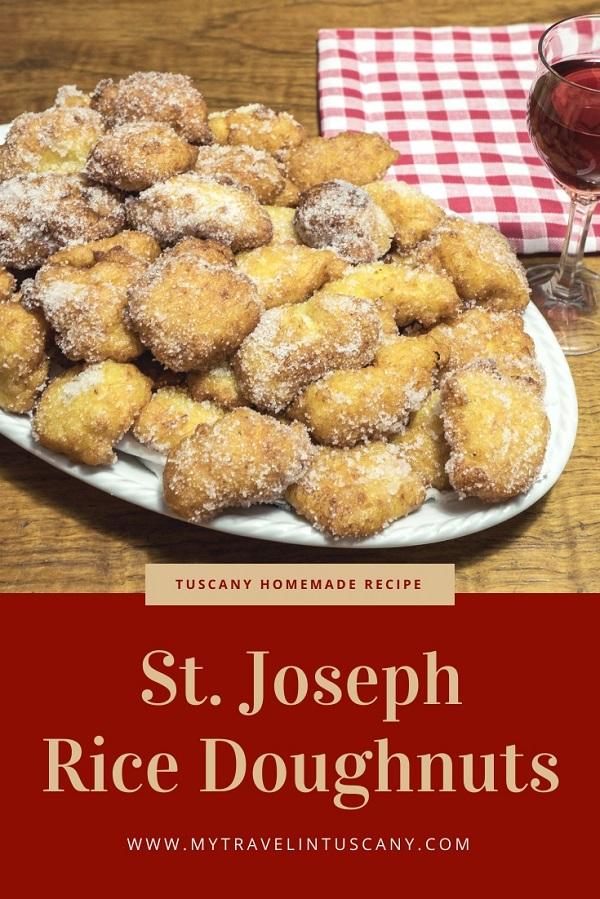 St. Joseph rice Doughnuts recipe Pinterest