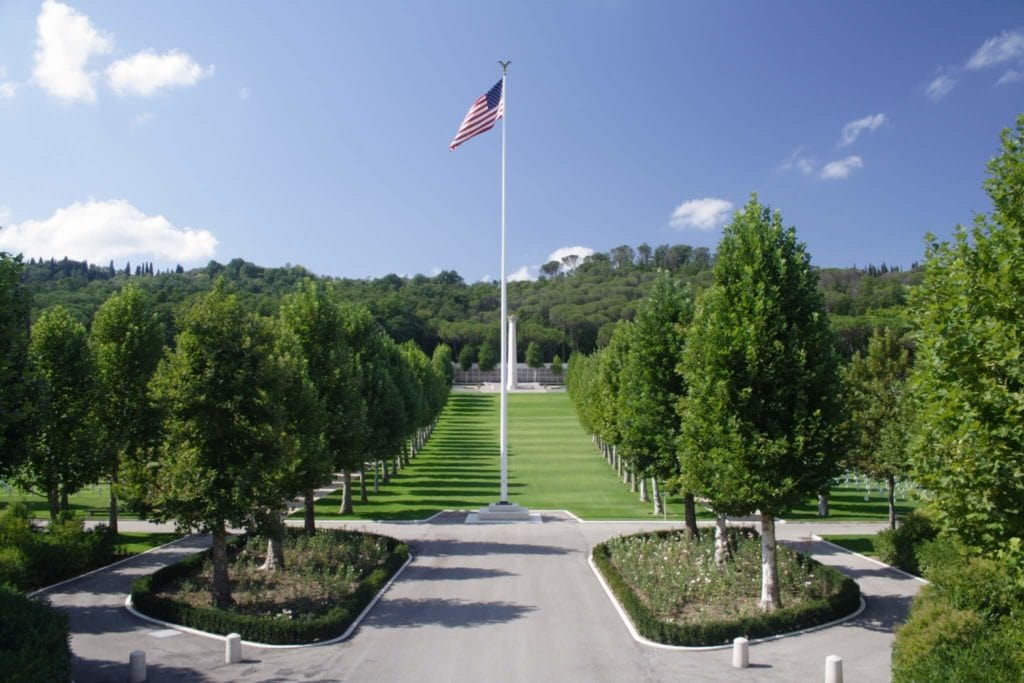Florence American Cemetery and Memorial Entrance my travel in tuscany
