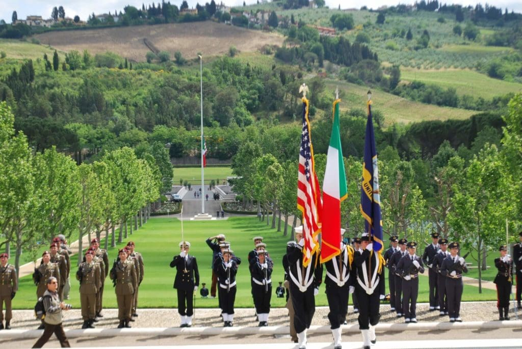 Florence American Cemetery and Memorial US NavyColor Guard My Travel in Tuscany