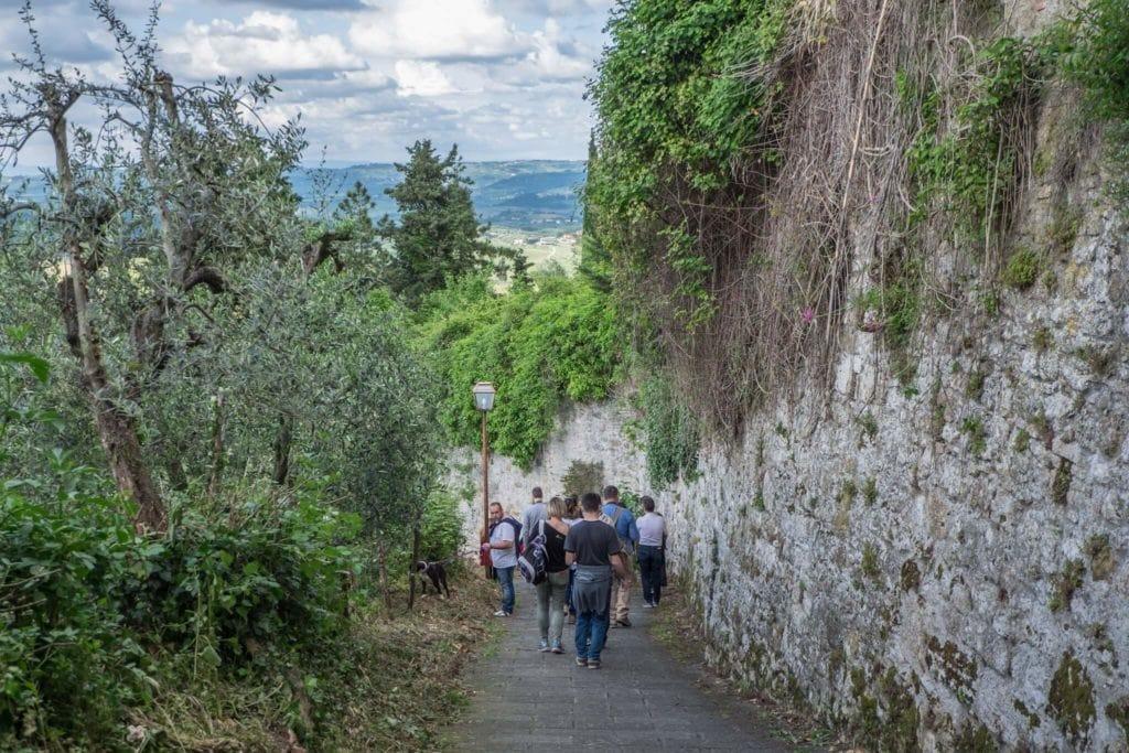 Via Santo Stefano San Gimignano my travel in tuscany