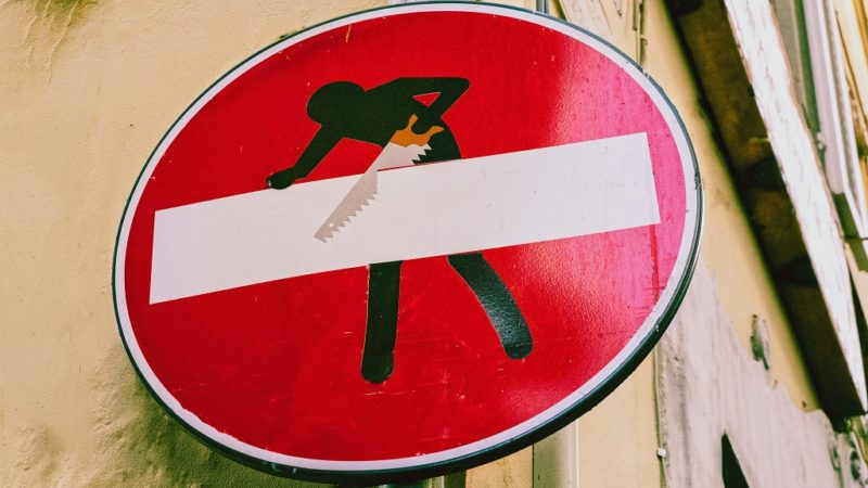 Clet Roadsign Artworks in Florence