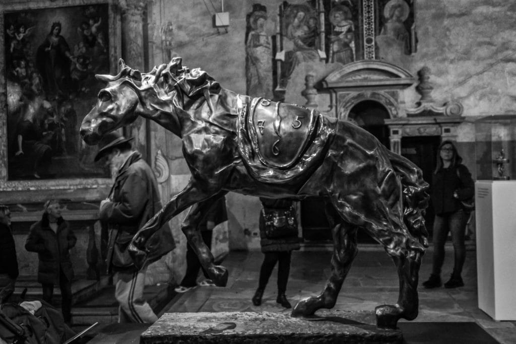Horse sculpture in the cloister