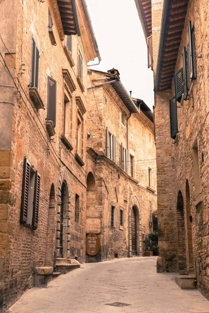Street of Montepulciano