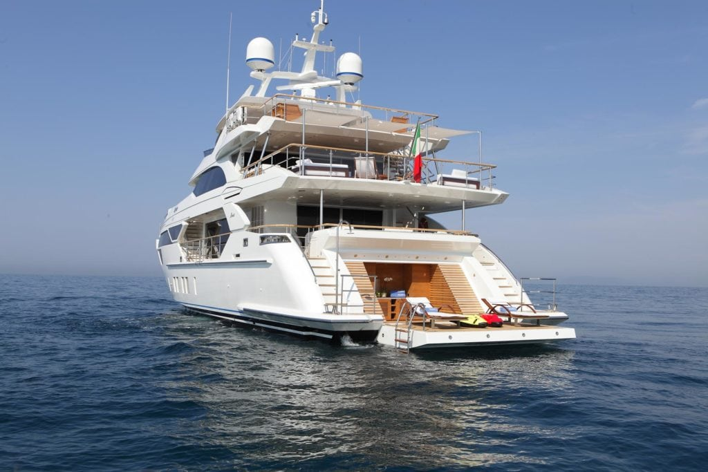 Yacht by the sea