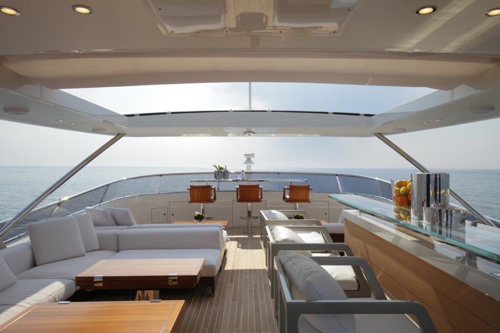 On Board of a luxury Yacht