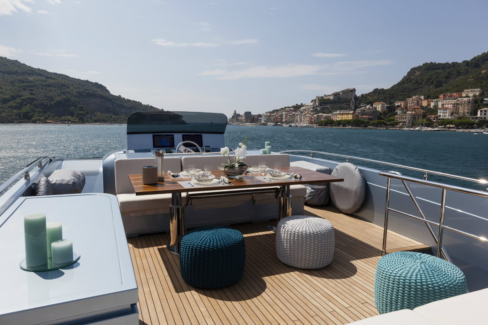On Board of a Yacht
