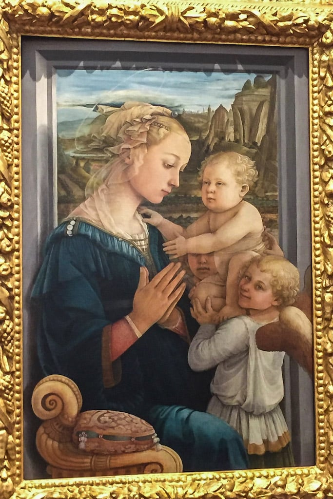 Lippi's painting reputedly showing the young Filippino Lippi - what to do in Lucca for a Half day