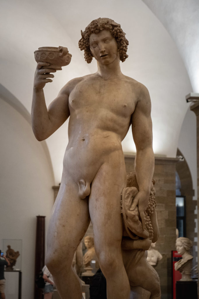 Bacchus Michelangelo at Bargello Museum