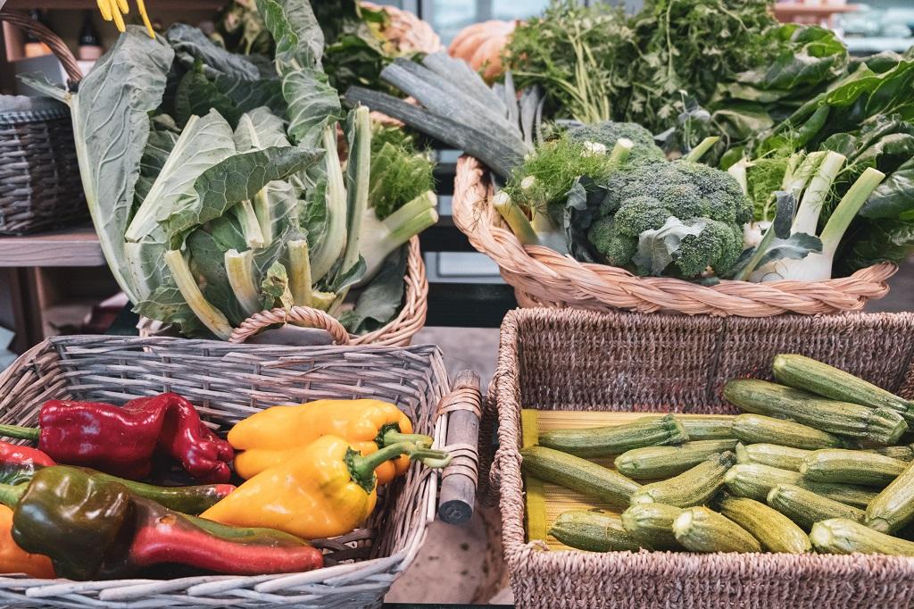 Fresh vegetables at eat valdera in tuscany