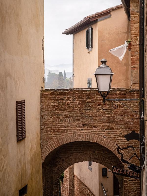 View of Lari in Valdera in Tuscany