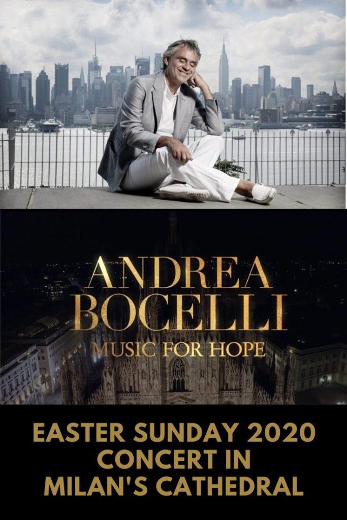Bocelli performed Music for Hope Pinterest Cover
