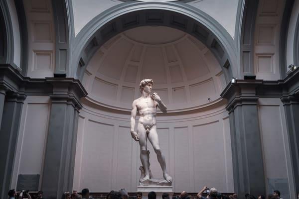Michelangelo's David Statue at the Galleria dell'Accademia