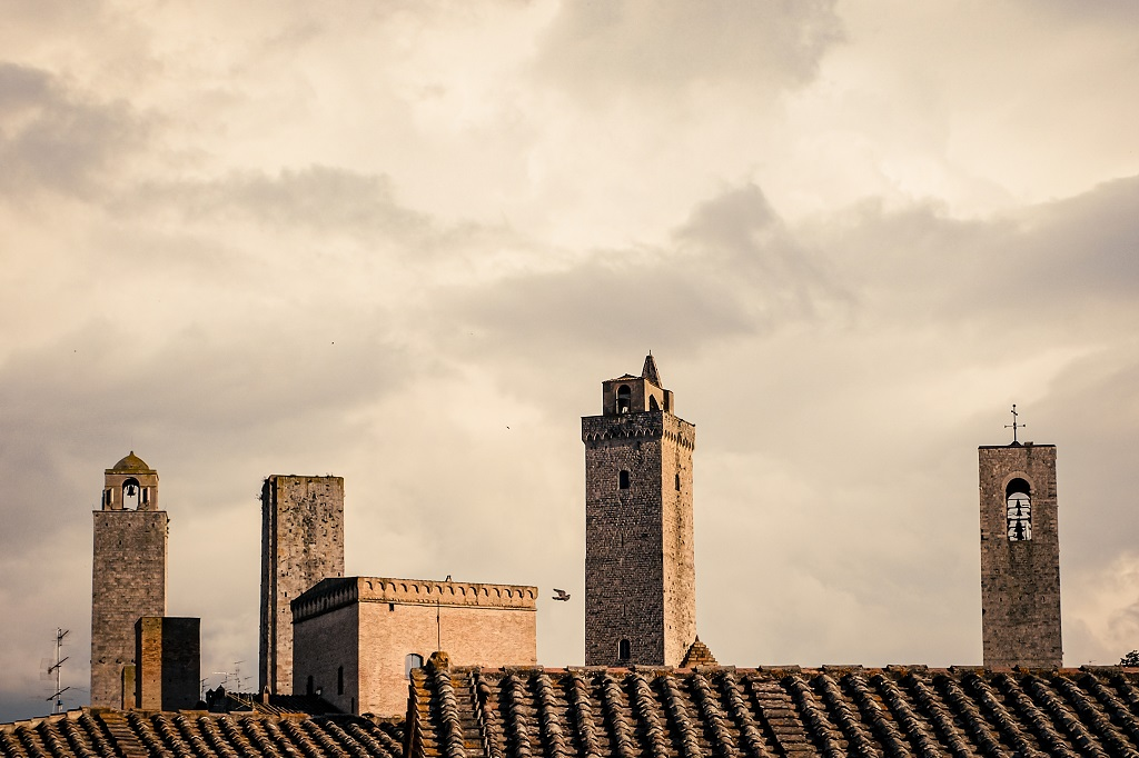 Roofs and towers of San Gimignano Italy