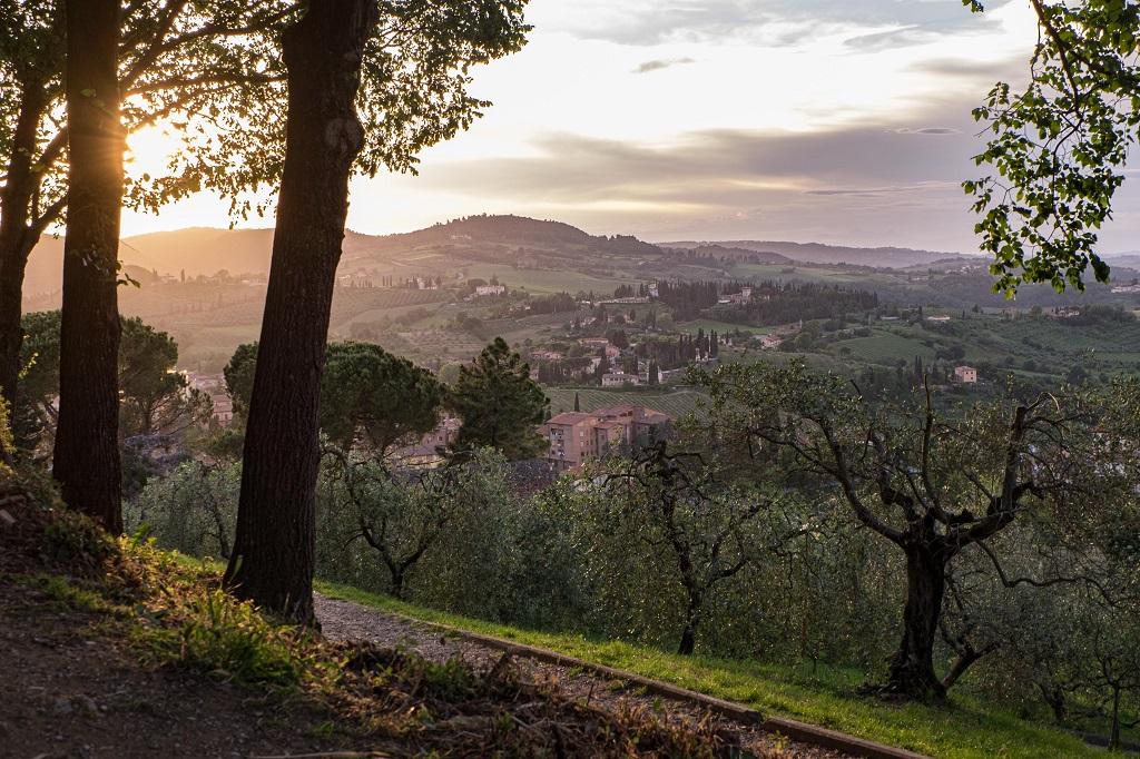 San Gimignano at Sunset