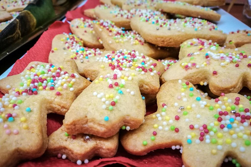 a Tray of Befanini Cookies from Tuscany