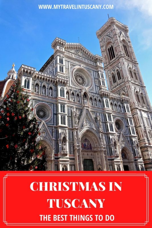 Cover for Pinterest. The best Things to do in Tuscany for Christmas