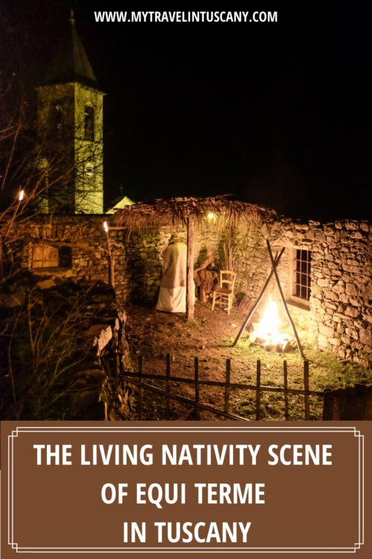 Cover for Pinterest, living nativity scene of Equi Terme in Tuscany