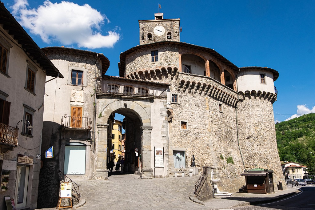 View of the Fortress Ariostesca in Castelnuovo Garfagnana Tuscany