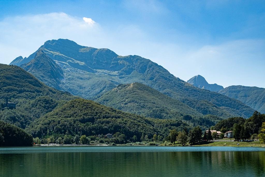 On the shore of Gramolazzo Lake Tuscany
