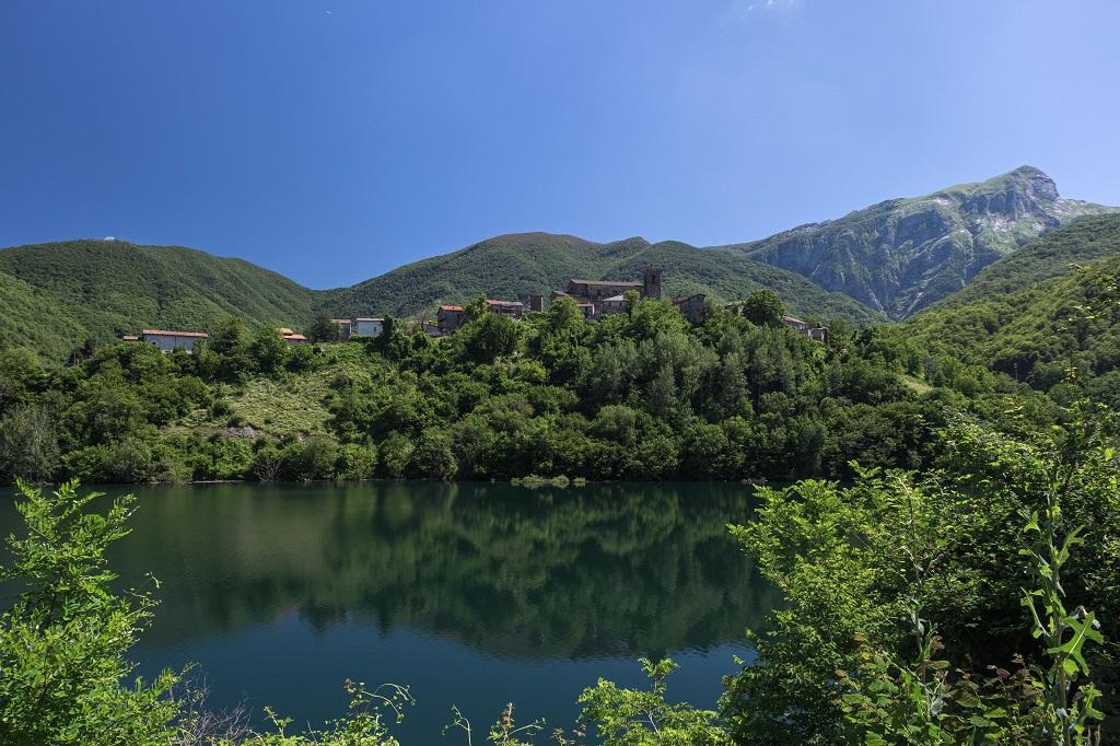 Lake Vagli in summer view