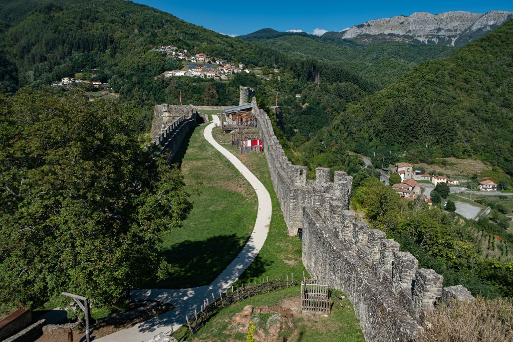 View of the inside of Fortress of Verrucole Tuscany