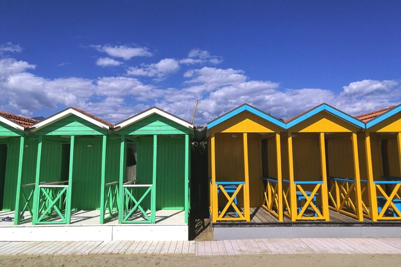 Changing rooms in Versilia, best beaches of Tuscany