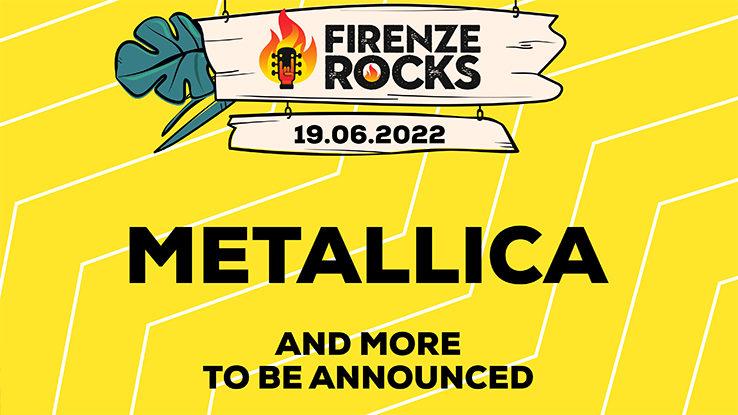 Metallica Poster for Firenze Rocks Festival 2022